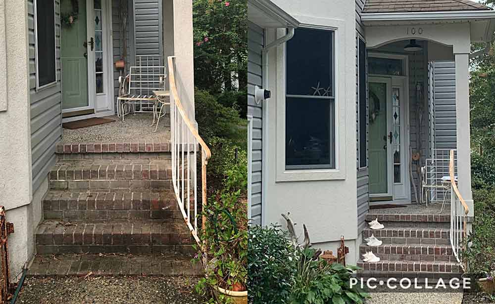 Brick Patio Cleaning Power Wash
