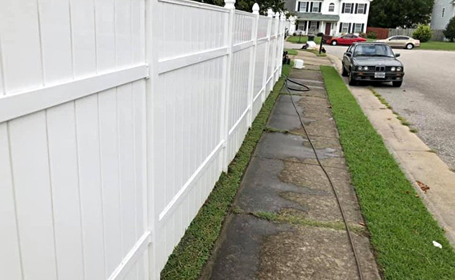 Soft Wash Fence Cleaning